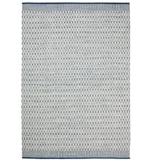 Mahi Matta Ull Off White/Blå 80x250 cm