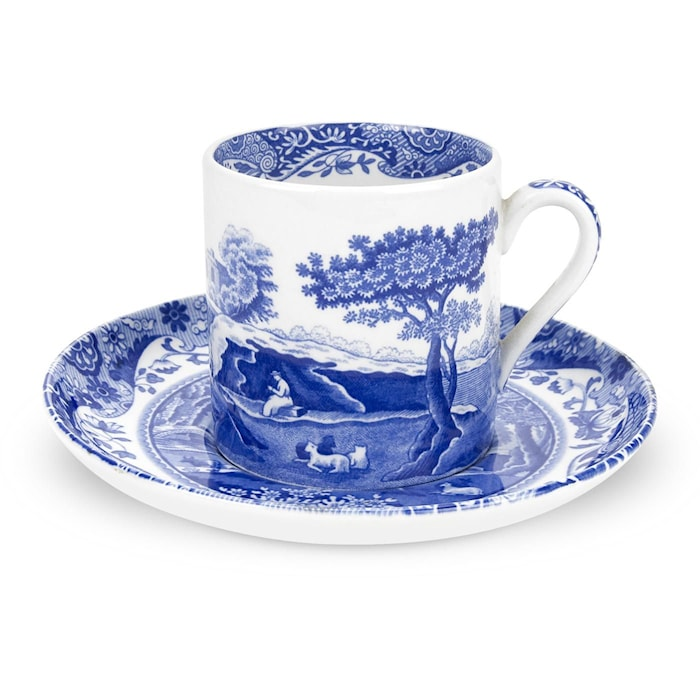 Blue Italian Espressokuppi & Aluslautanen 9 cl