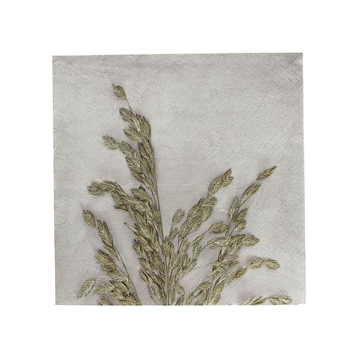 Servetter Grass 1 Ljusgrå