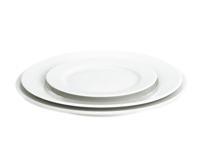 Sancerre tallerken flad hvid, Ø 22 cm