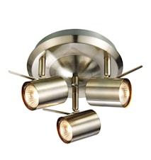 Hyssna LED Taklampa Stål