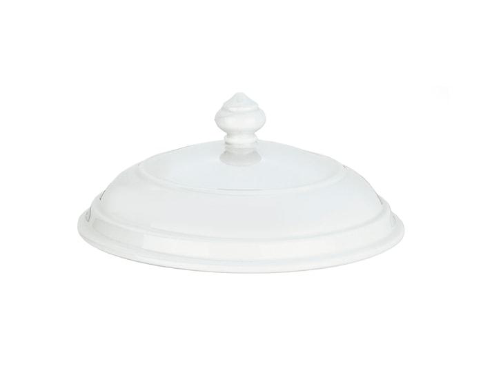 Låg hvid til suppeskål nr. 8 22,5 cm