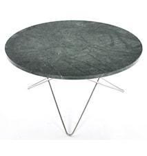 O table soffbord - green indigo marmor/rostfritt