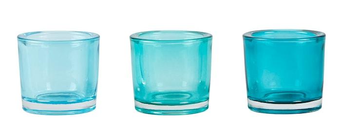 Ljuslykta Blå 6x6 cm