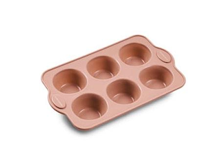 Muffinform Silikon Rosa 6 st