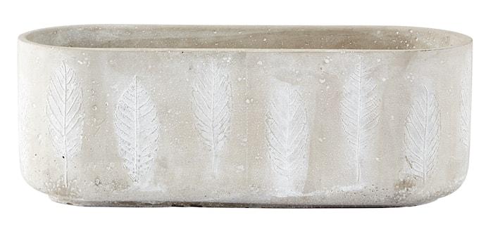 Skjuler - m. mønster - Cement - Grå - H 10,5cm - L 29,5cm - B 11,5cm - Stk.