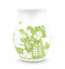 Vase, Rosegarden, grønn, H 18 cm