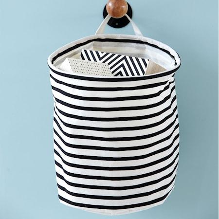 Förvaringskorg Stripes 30x30 cm Svart/Vit