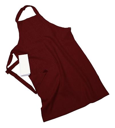 Erik classic lång förkläde – Med handduk, burgundy