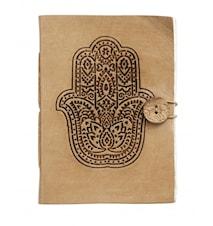 Notebook, Fatima hand, leather, small