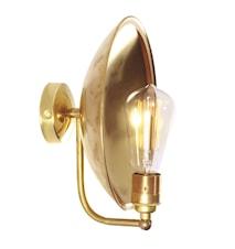 Cullen industrial dish vägglampa – Polished brass