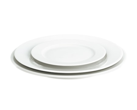 Sancerre tallrik flat vit, Ø 26 cm