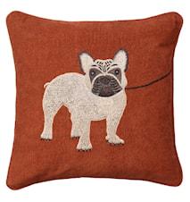 French Bull Dog Pillowcase Rust 50x50cm