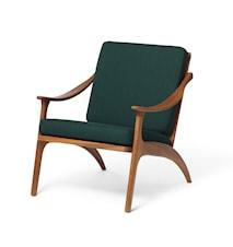 Lean Back Lounge Chair Forest Green Teak