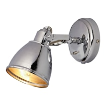 Fjällbcka Vegglampe Krom