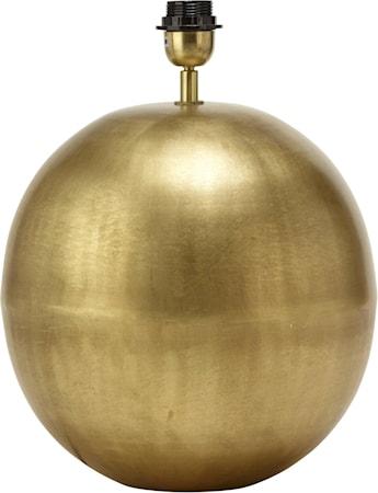 Globe Lampfot Blekt Guld 30cm