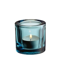 Kivi lysestage 60mm havsblå /gavepakning