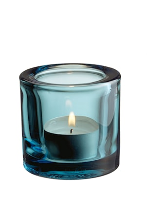 Kivi ljuslykta 60mm havsblå Presentförpackning