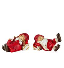 Joulukoriste laatikolla Polyresin 2-pack Punainen 9x5,5 cm