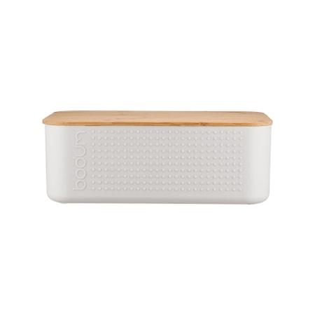 Bistro Brødboks med bambuslokk Hvit