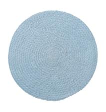 Bordbrikke Blå Jute 38cm
