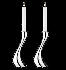 Cobra Ljusstake Stor 2pack Rostfritt Stål