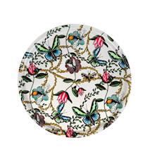 Nadja Wedin Design Bricka 38 cm Bugs & Butterflies Offwhite