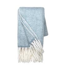 Pläd Mathea - Dusty blue