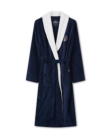 Cotton Velour Contrast Badrock Dress Blå/Vit X-Small