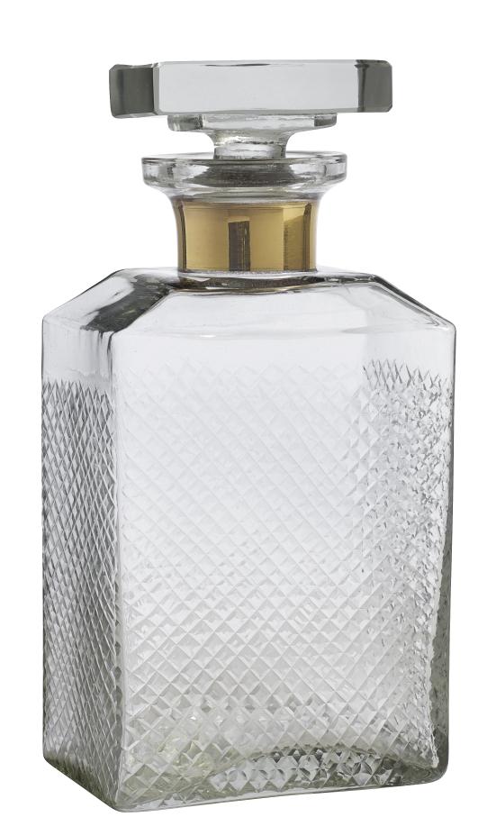 Karaff Glas Guldband Large