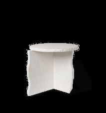 Mineral Sculptural Bord Bianco Curia