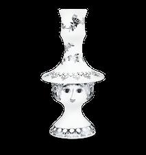 Lysestage, Rosalinde, sølv, 17 cm