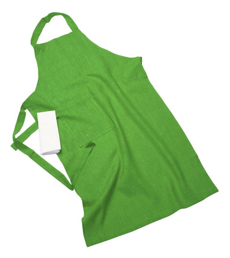 Erik classic lång förkläde – Med handduk light green