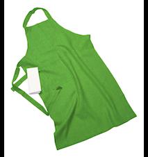 Erik classic lang forklæde – Med viskestykke, light green