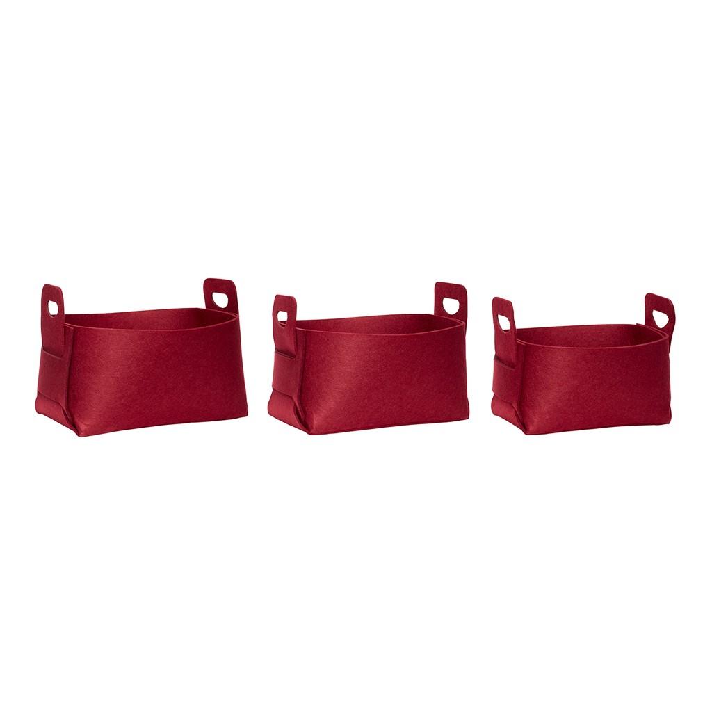 Filtkorg Röd 3 storlekar