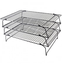 Cooling rack 3 levels 40x25cm Black