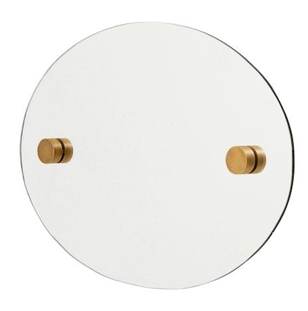 Oval spejl 35x50 cm - Messing