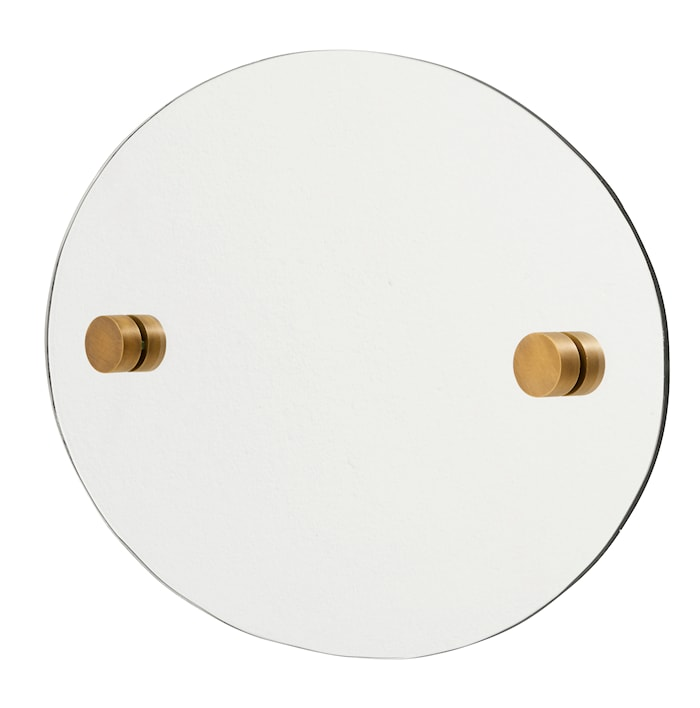 Oval spegel 35x50 cm Mässing