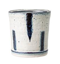 Blomkruka Blå Stengods 14 cm