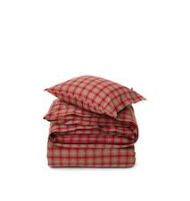 Checked Påslakanset Cotton Flannel