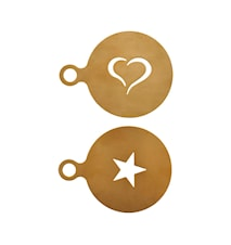Kaffedekoration, Guld, Rostfrittstål, Set med 2