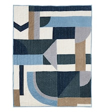 Plaid PATCHWorK mélange de bleu 130 x 170 cm
