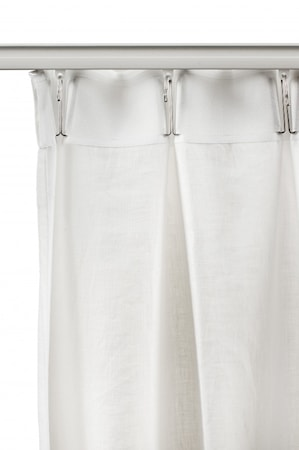 Verhot Lilja laskostusnauhalla 145x290cm Valkoinen