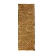 hand woven cotton runner mustard/honey (70 x 200)