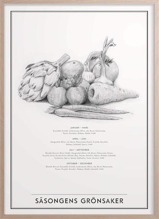 Säsongens Grönsaker Poster 30x40 cm