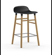 Form Barstol Svart/Ek 65 cm