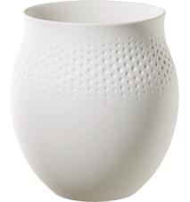 Collier Blanc Perle Vase Large Weiß