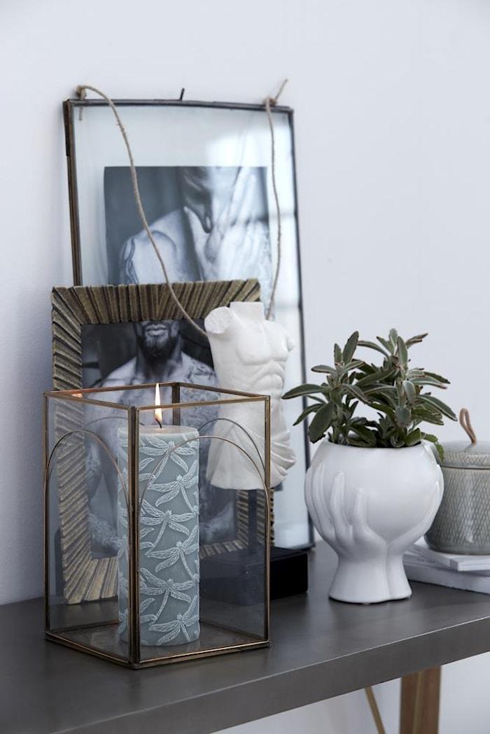 Kynttilälyhty Auria 15 cm Kulta