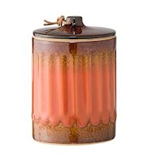 Boks med lokk Orange Steintøy 8,5x12cm