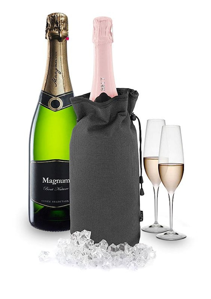 Champagnekylare för magnumflaskor grå